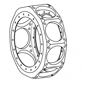 Radial-engine-crankcase-isometric