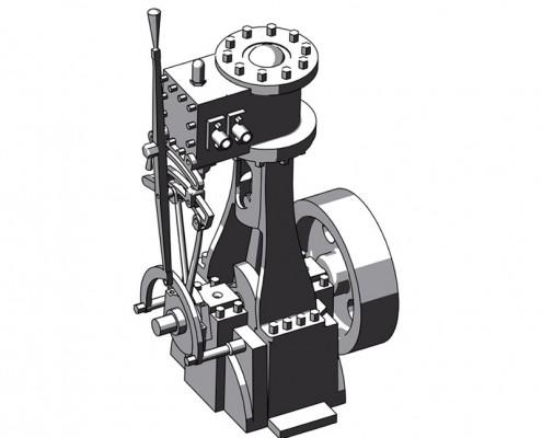 Vertical-Steam-engine