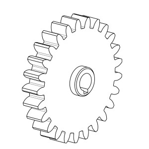 Isometric View of a gear